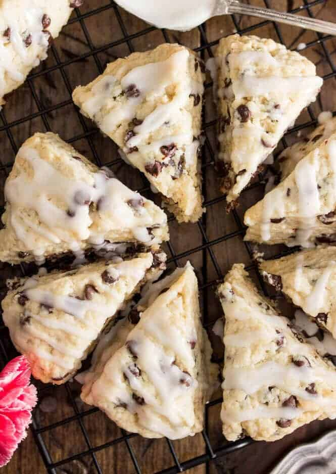 chocolate chip scones sugar spun run + Top 50 Easter Brunch Recipes that will please every guest on your list!