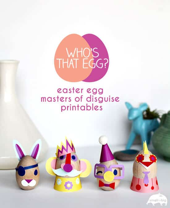 easter egg masters of disguise + 25 Easter Crafts for Kids - Fun-filled Easter activities for you and your child to do together!