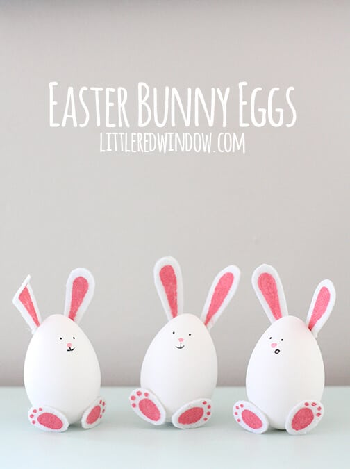 easter bunny eggs + 25 Easter Crafts for Kids - Fun-filled Easter activities for you and your child to do together!