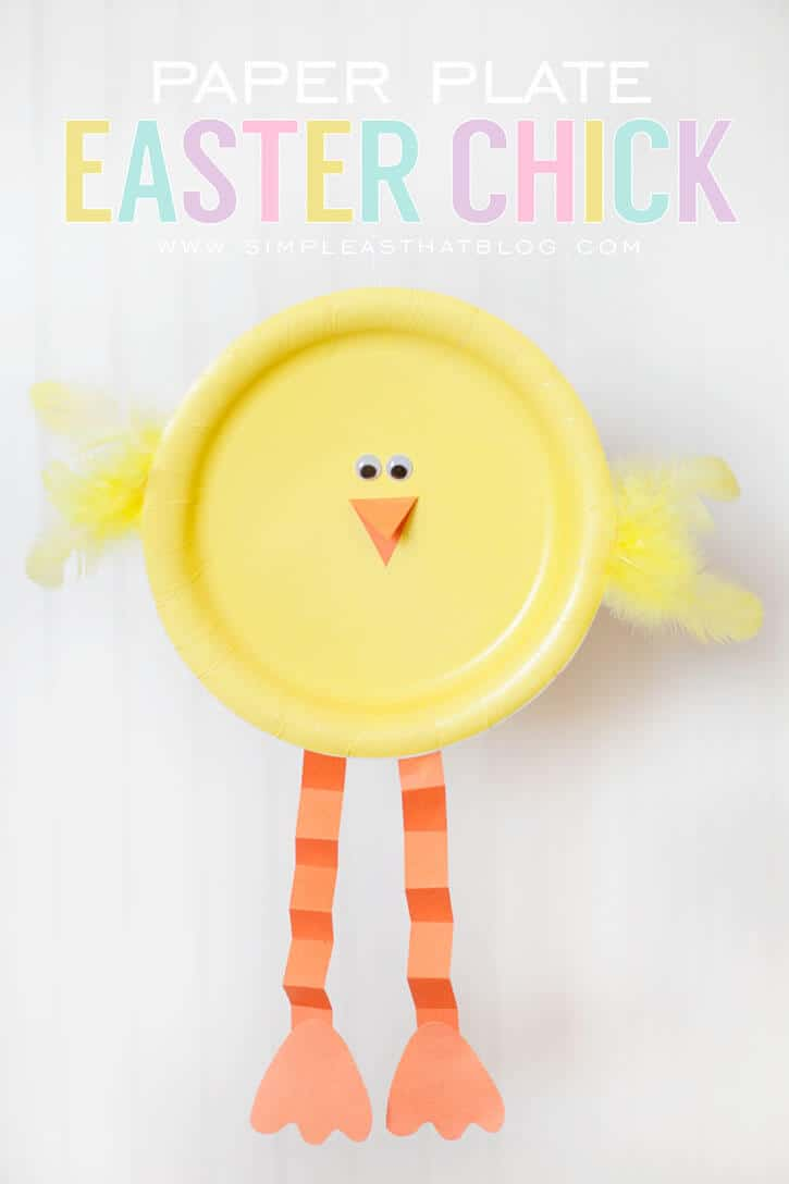 easter chick paper plate + 25 Easter Crafts for Kids - Fun-filled Easter activities for you and your child to do together!