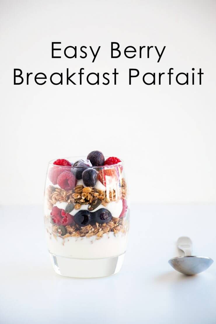 easy berry breakfast parfait + Top 50 Easter Brunch Recipes that will please every guest on your list!