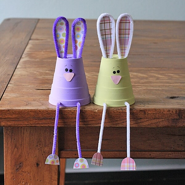 foam cup bunnies + 25 Easter Crafts for Kids - Fun-filled Easter activities for you and your child to do together!