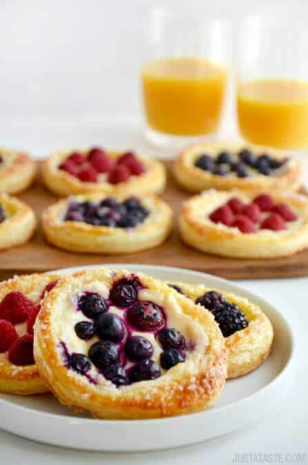 fruit and cream cheese breakfast pastry + Top 50 Easter Brunch Recipes that will please every guest on your list!