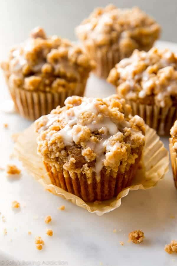 pumpkin crumb muffins sallys baking addiction + Top 50 Easter Brunch Recipes that will please every guest on your list!