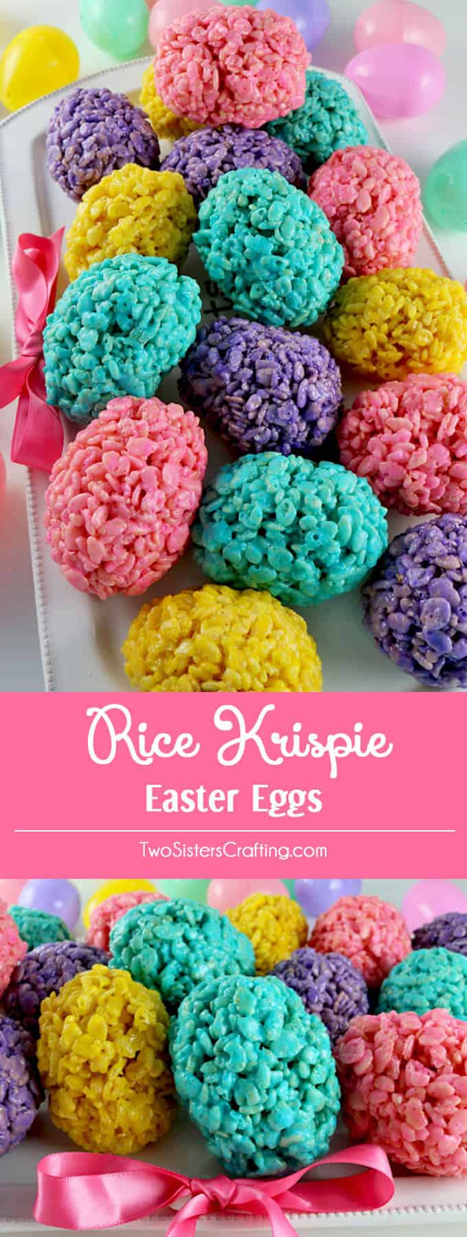 rice krispie Easter eggs + 25 Easter Crafts for Kids - Fun-filled Easter activities for you and your child to do together!