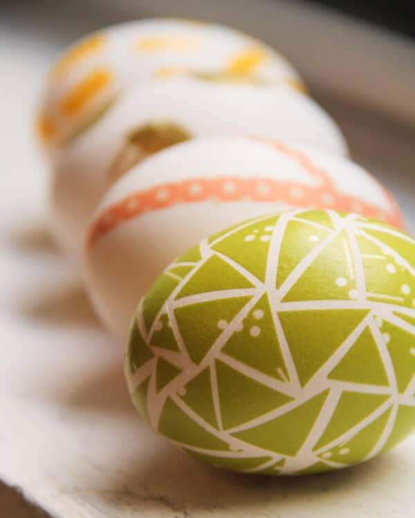DIY Washi Easter Eggs + 25 Easter Crafts for Kids - Fun-filled Easter activities for you and your child to do together!