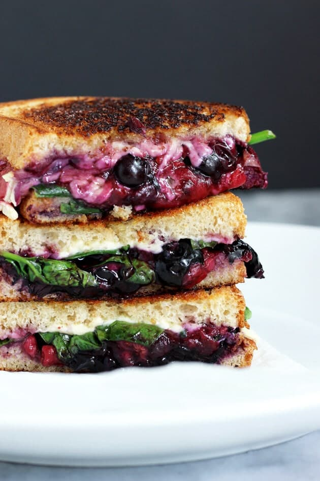 Balsamic Berry Vegan Grilled Cheese + 50 Delicious Berry Recipes... refreshingly sweet treats that you can enjoy all summer long!