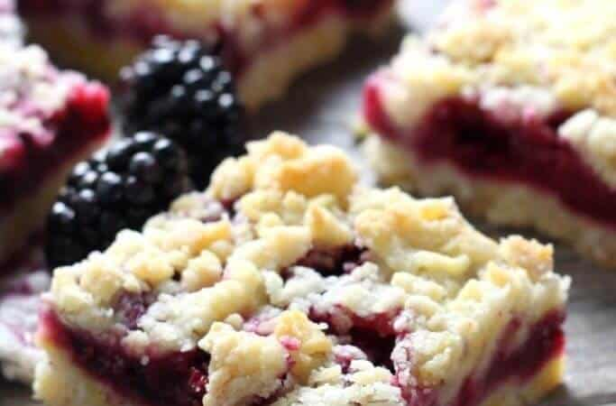 Blackberry Crumb Bars + 50 Delicious Berry Recipes... refreshingly sweet treats that you can enjoy all summer long!