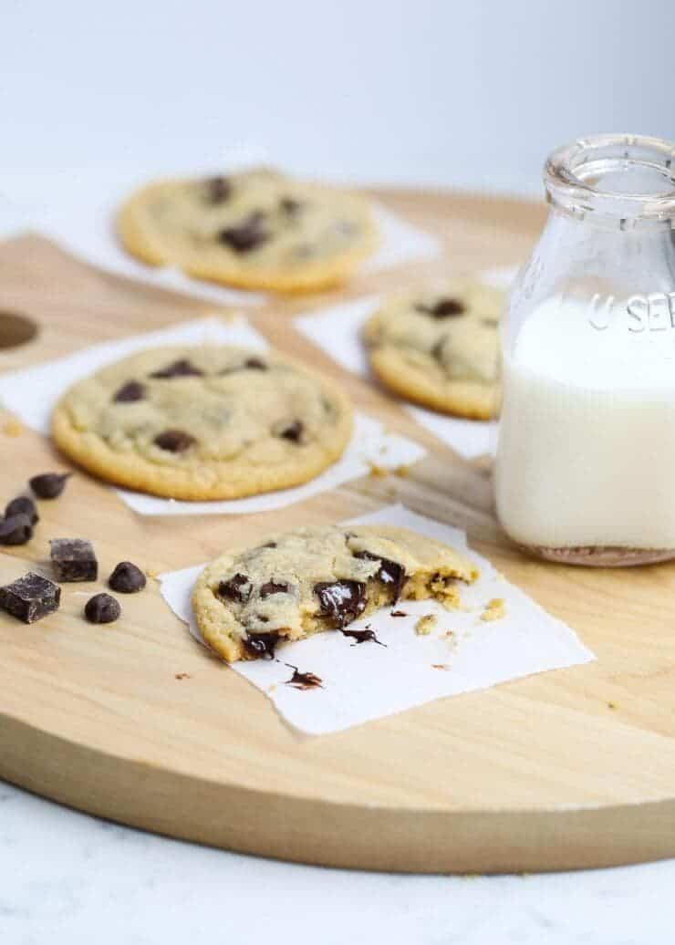 The BEST brown butter chocolate chip cookies -soft, chewy and slightly crispy around the edges. These have the perfect flavor and tons of chocolate!