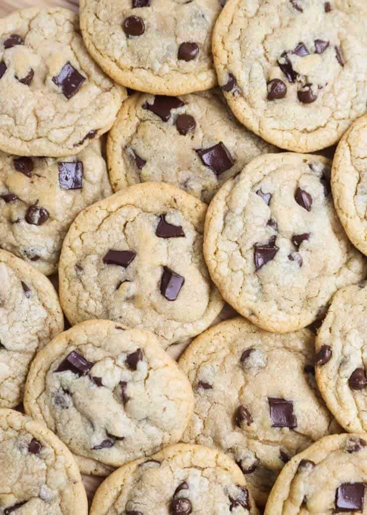 The BEST Brown Butter Chocolate Chip Cookies ...soft, chewy and slightly crispy around the edges. These have the perfect flavor and tons of chocolate!