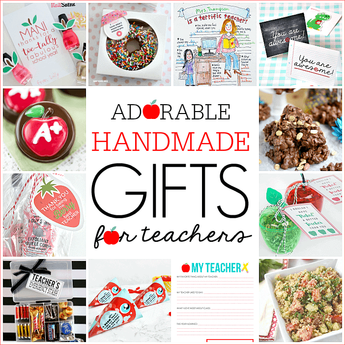 All About My Teacher Printable ...the perfect gift for teacher appreciation! 12 Handmade Teacher Gifts and $300 PayPal Giveaway!