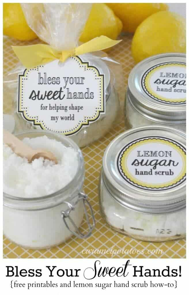25 handmade gift ideas for teacher appreciation i heart nap time bless your sweet hands lemon sugar scrub 25 handmade gift ideas for teacher appreciation negle Gallery