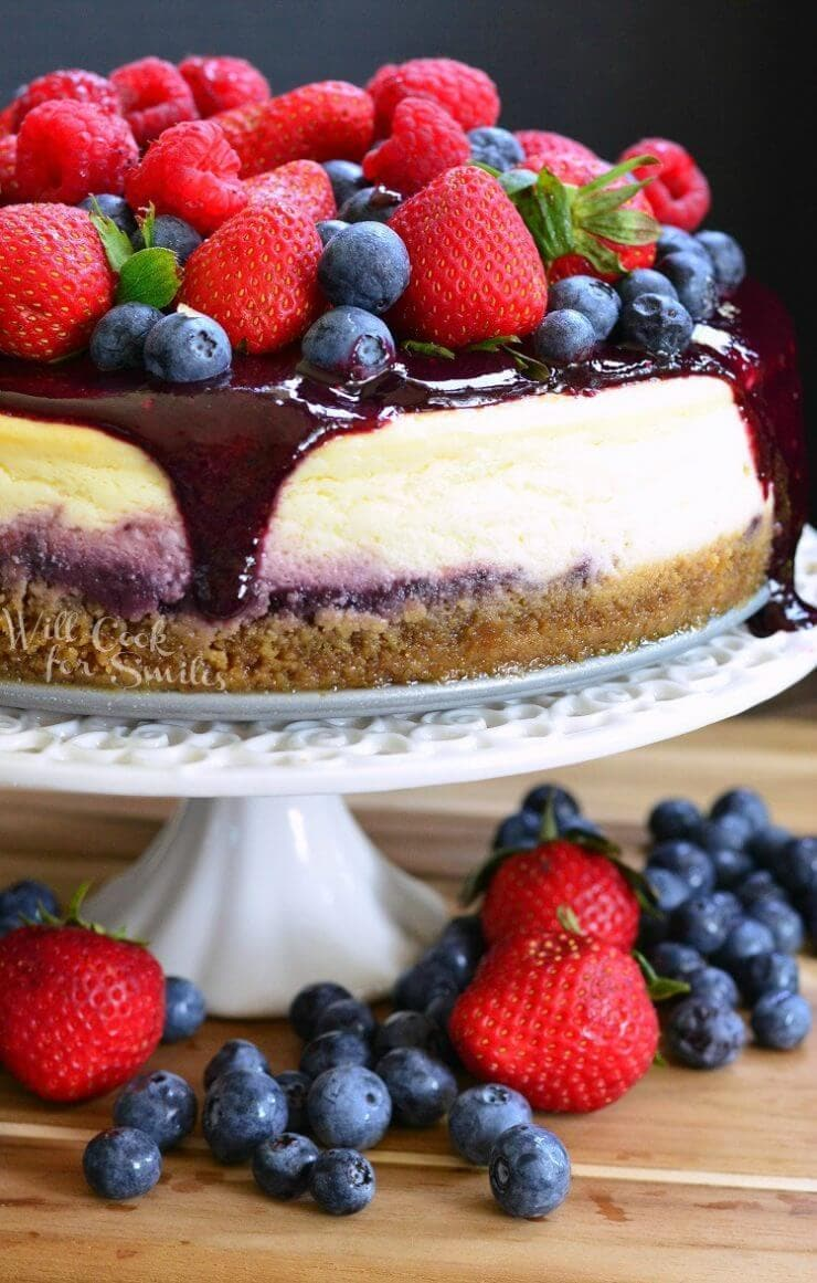 Mixed Berry Cheesecake + 50 Delicious Berry Recipes... refreshingly sweet treats that you can enjoy all summer long!
