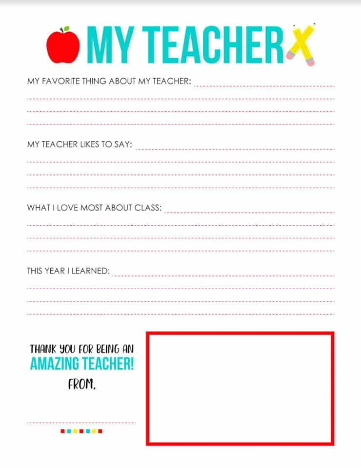... gift for teacher appreciation! FREE printable on I Heart Naptime