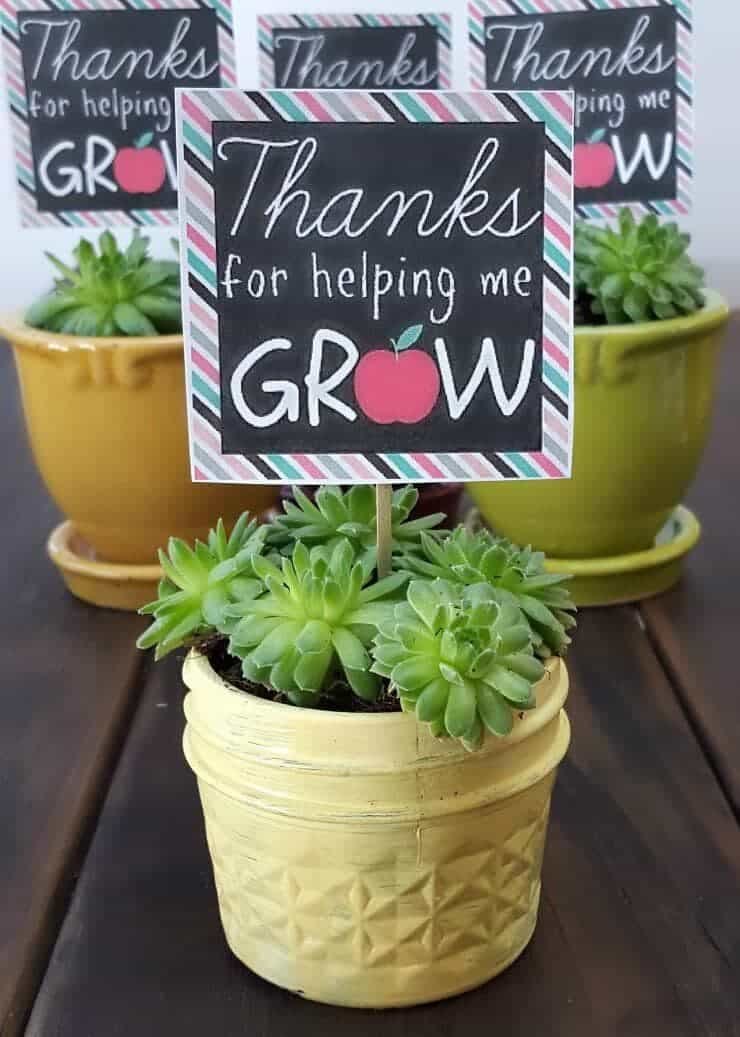 Clean image pertaining to thanks for helping me grow free printable