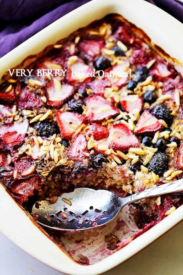 Very Berry Baked Oatmeal + 50 Delicious Berry Recipes... refreshingly sweet treats that you can enjoy all summer long!