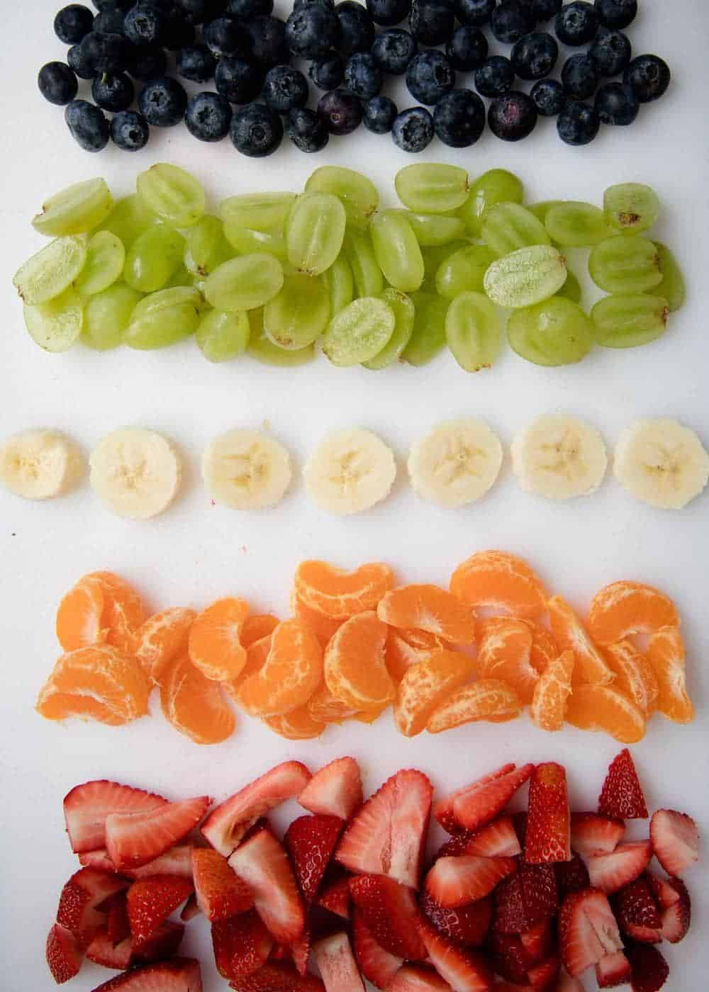 chopped fruit for fruit salad recipe