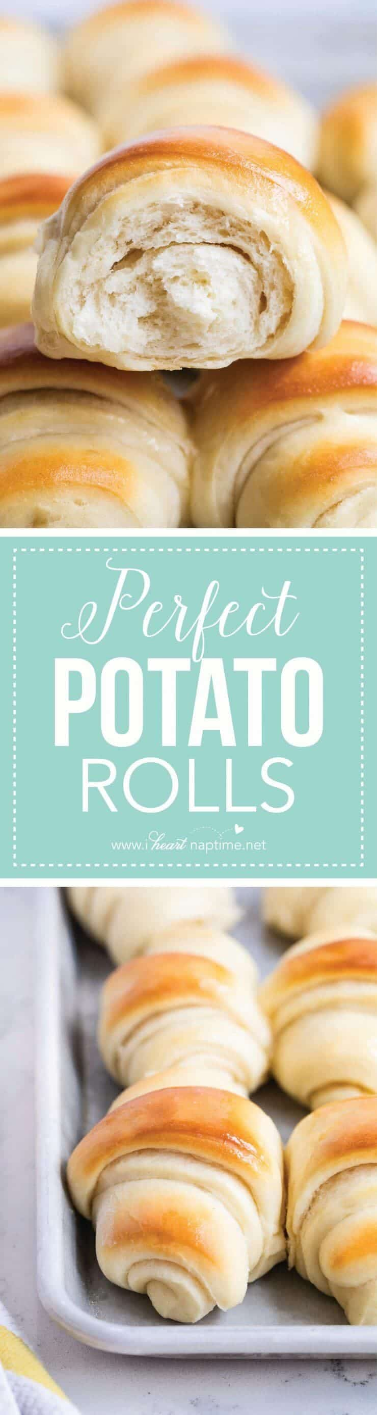Perfect Potato Rolls Recipe ...these rolls are so tender and soft with an amazing flavor. The perfect dinner roll for any occasion!