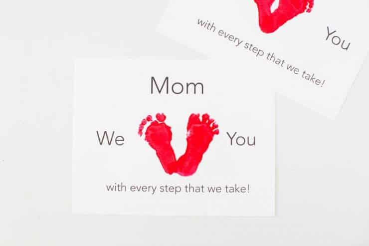 Mother's Day Stamped Gift Feet + 25 Free Mother's Day Printables - Beautiful and easy gift ideas to honor the women who make the world go round!