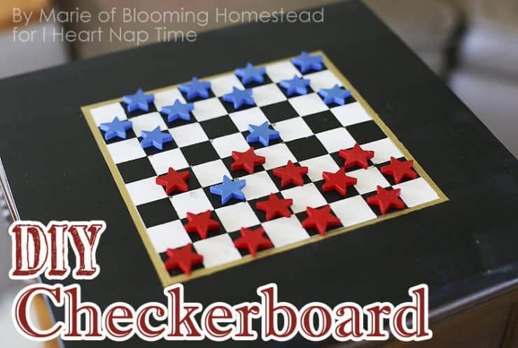 DIY Checker Board Game + 50 Festive Memorial Day BBQ Ideas...creative ways to kick-off summer and celebrate our freedom while remembering our fallen heroes!
