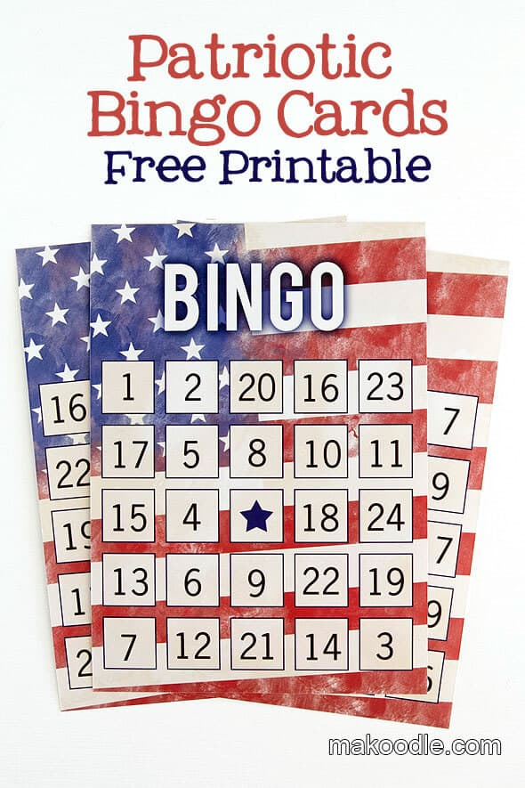 Patriotic Bingo Cards + 50 Festive Memorial Day BBQ Ideas...creative ways to kick-off summer and celebrate our freedom while remembering our fallen heroes!