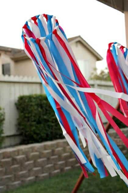 Patriotic Wind Catchers + 50 Festive Memorial Day BBQ Ideas...creative ways to kick-off summer and celebrate our freedom while remembering our fallen heroes!