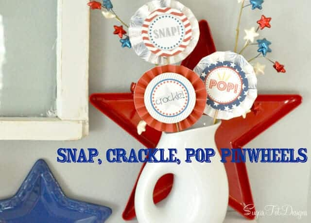 Snap Crackle Pop Pinwheels + 50 Festive Memorial Day BBQ Ideas...creative ways to kick-off summer and celebrate our freedom while remembering our fallen heroes!