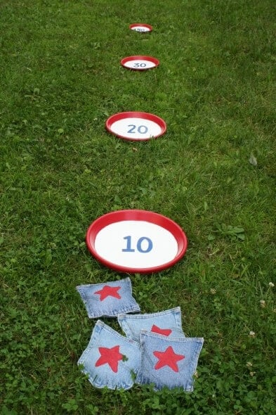 Bean Bag Toss Game + 50 Festive Memorial Day BBQ Ideas...creative ways to kick-off summer and celebrate our freedom while remembering our fallen heroes!