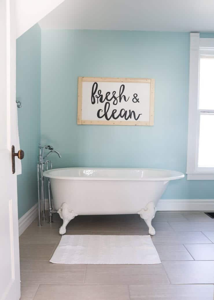 Fixer upper bathroom before and afters i heart nap time - Fixer upper long narrow bathroom ...