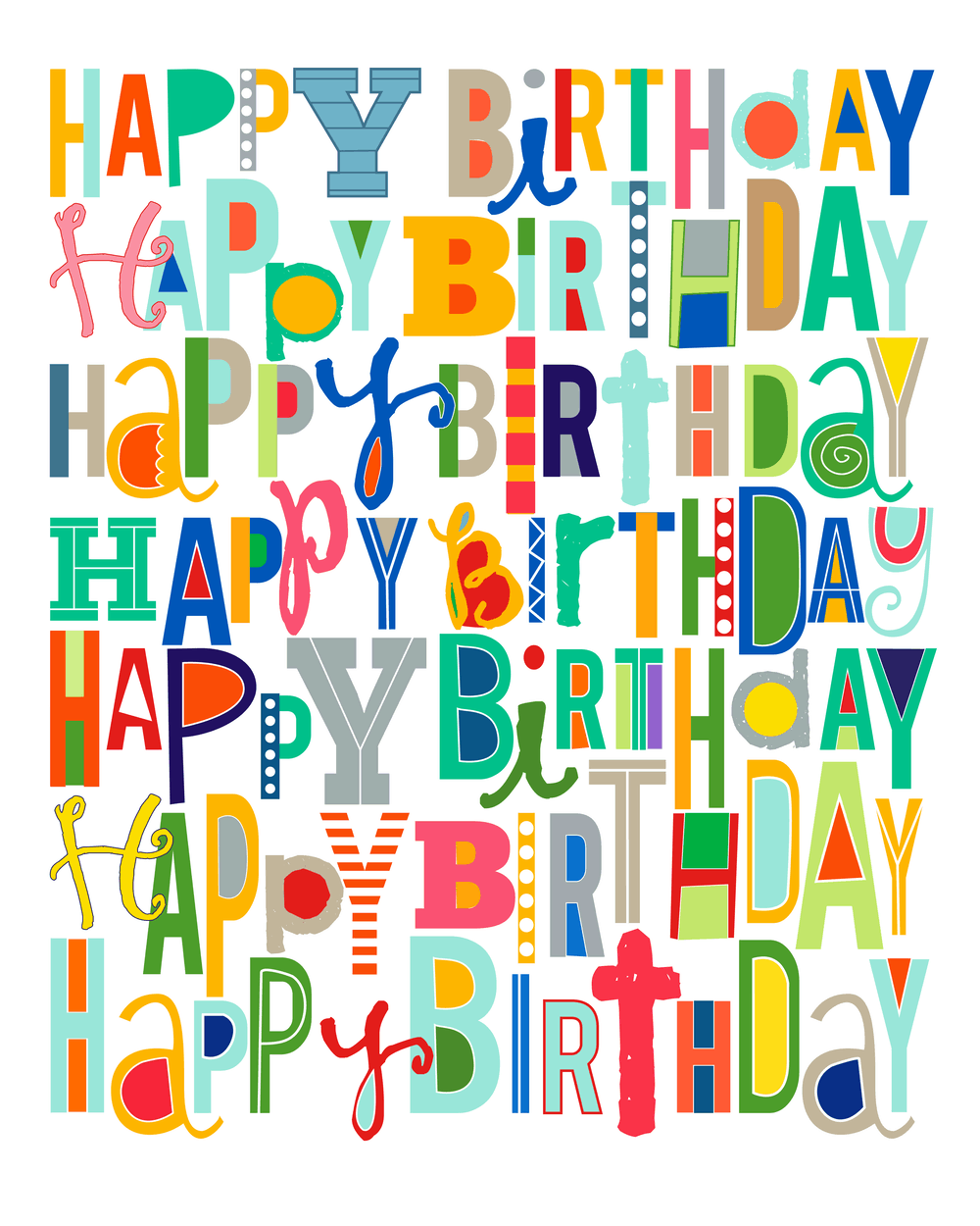 Free happy birthday printable i heart nap time for Birthday posters free download