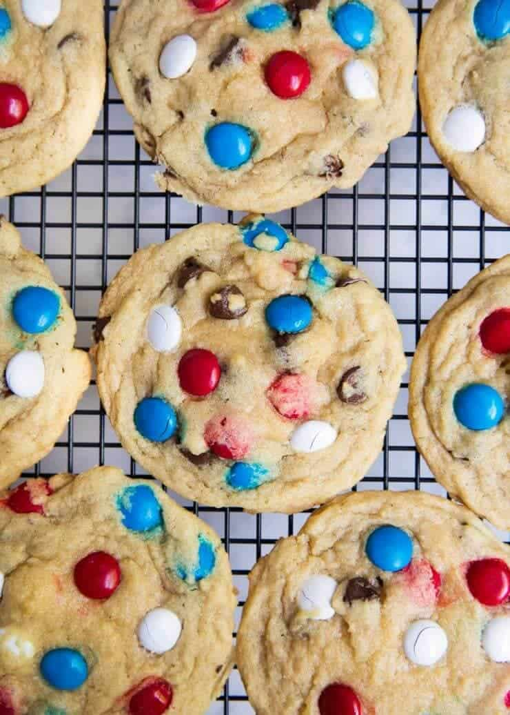 BEST M&M cookies- super soft, chewy, crispy edges and full of chocolate! Taste like they came straight from a bakery!