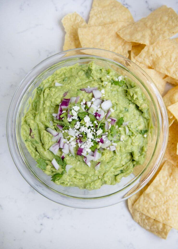 Love this easy guacamole recipe that tastes like it came straight from a Mexican restaurant. The flavor is hard to beat!