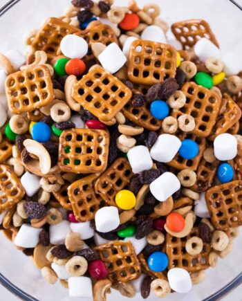 trail mix in a bowl