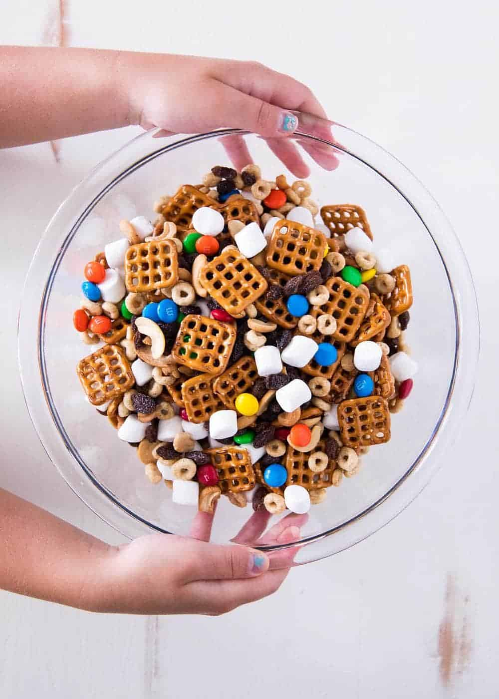 bowl of kid's trail mix