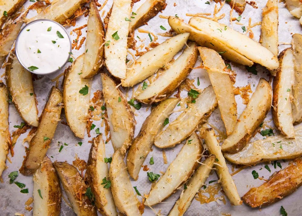 parmesan potato wedges with ranch