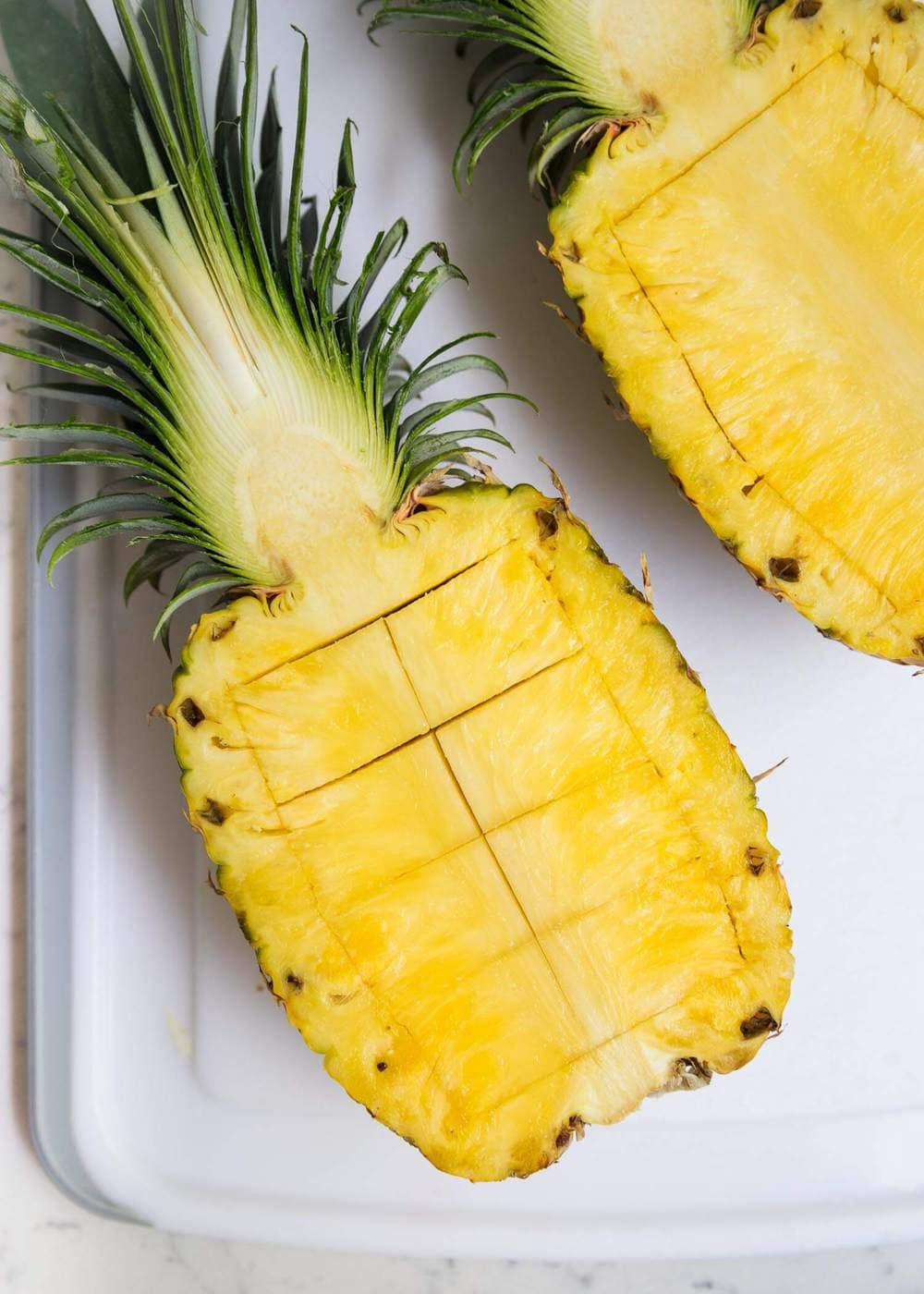 how to make a pineapple boat for pineapple fluff