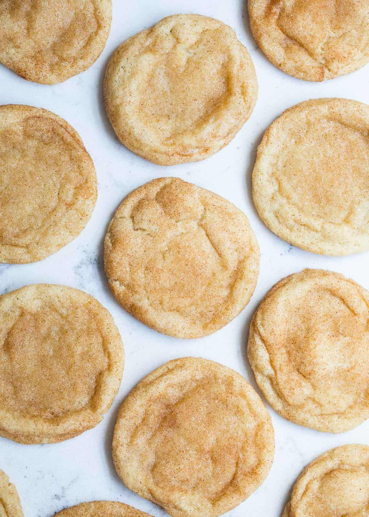 snickerdoodle cookies on the counter