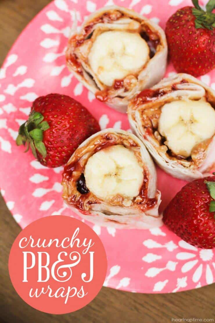 PB&J wraps with bananas
