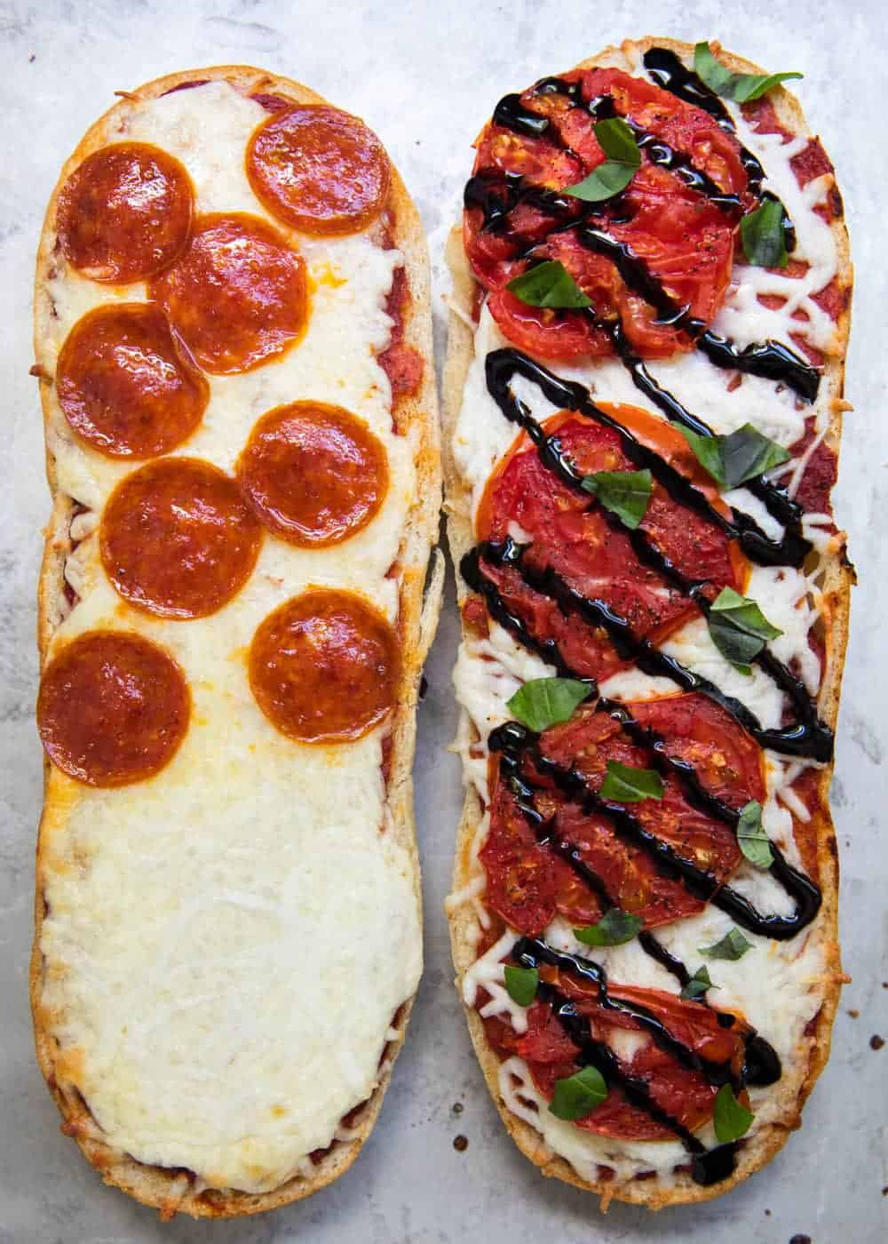 baked french bread pizza