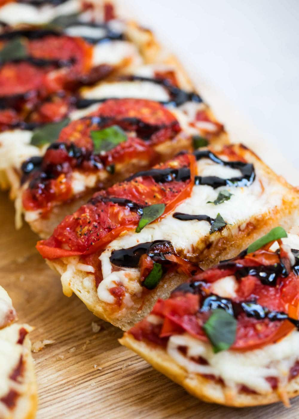 homemade caprese french bread pizza