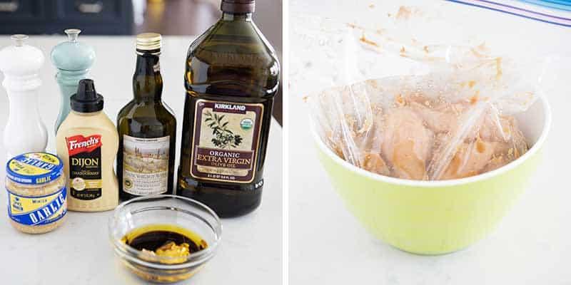 chicken marinade ingredients in bowl