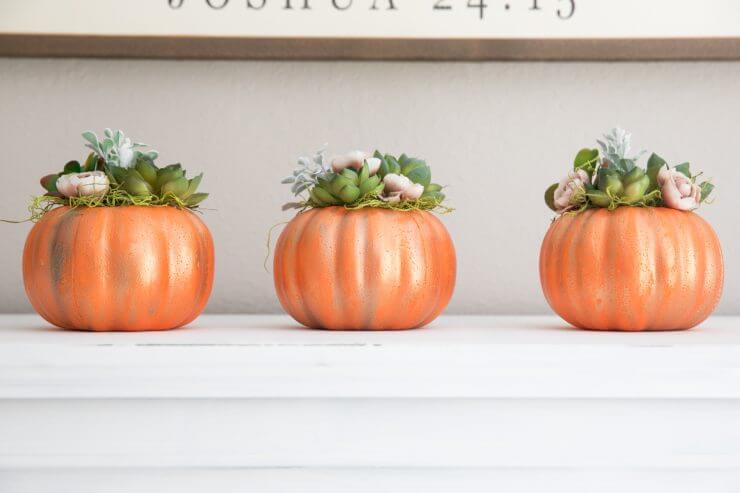 DIY pumpkin decor for fall