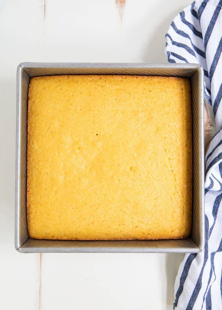 This easy corn bread recipe is one of my favorites to make during the fall. It goes perfect with a hot bowl of chili.