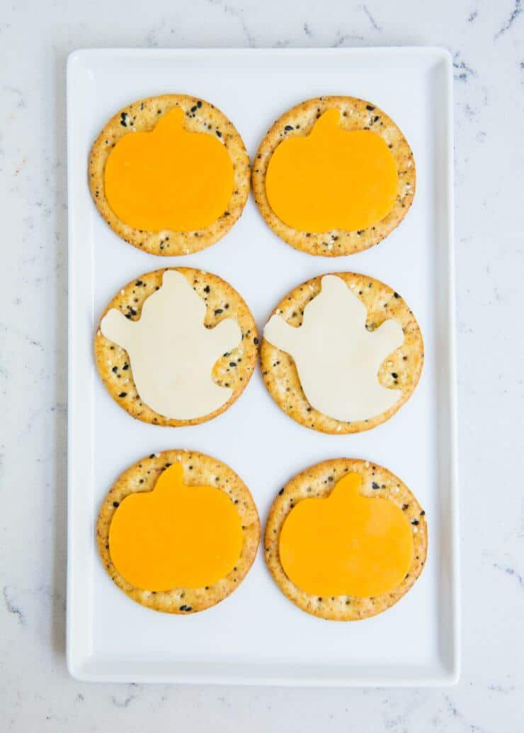 Halloween cheese crackers