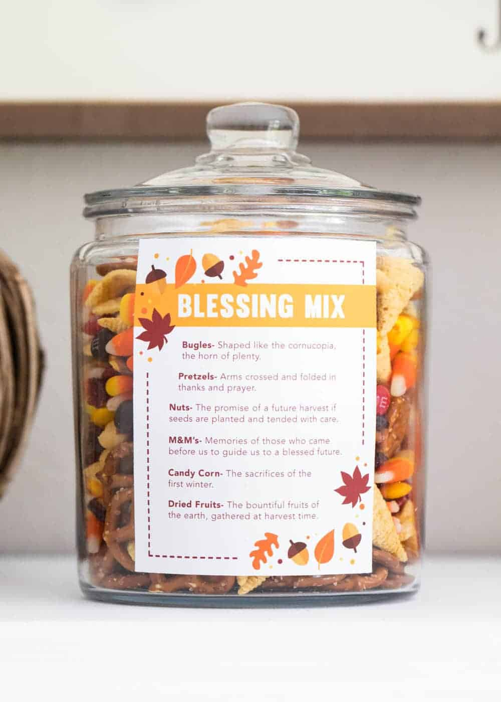 EASY Thanksgiving Blessing Mix With FREE Printable I