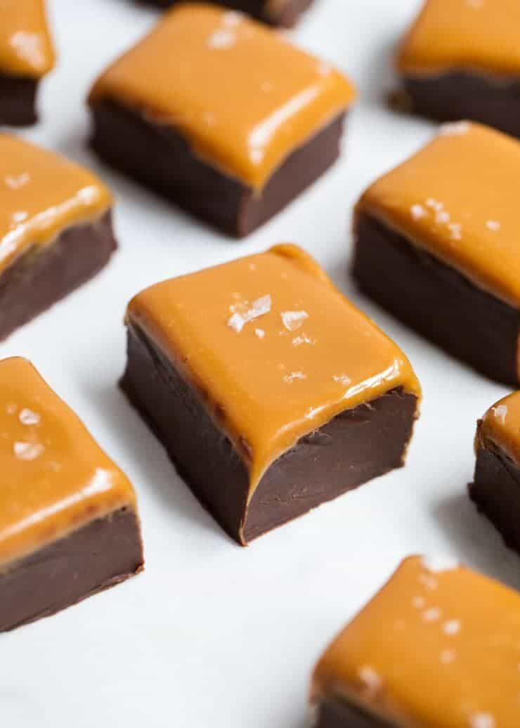 Creamy homemade fudge made in the microwave with only 3 ingredients. Top with a gooey salted caramel or mix in your favorite chopped nuts.