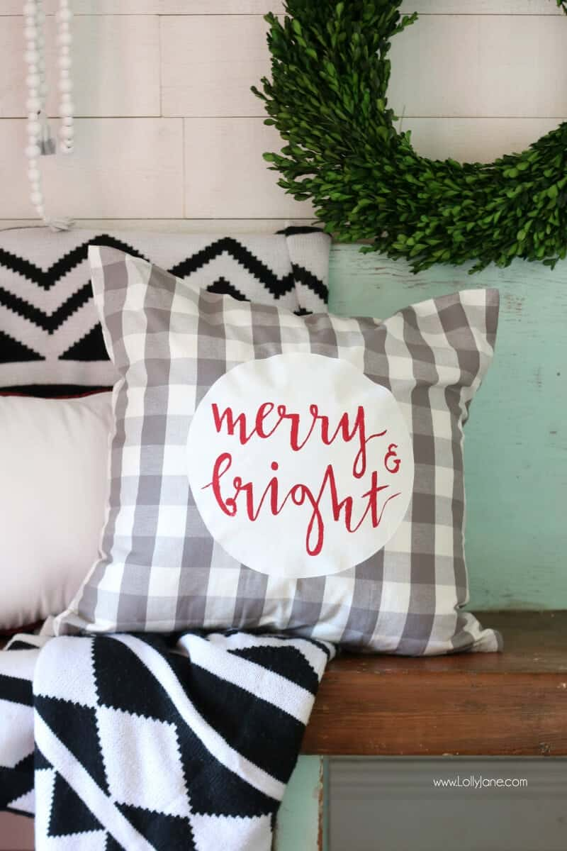 Easy Christmas Pillow Cover Tutorial I Heart Nap Time