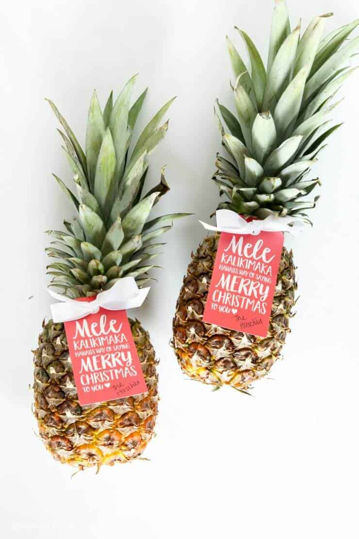 We're channeling the spirit of Hawaii today, with a pineapple gift idea for neighbors and friends that is both easy and adorable.