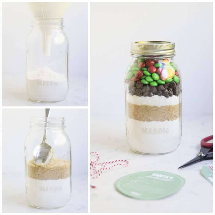 How to make a cookie mix in a jar