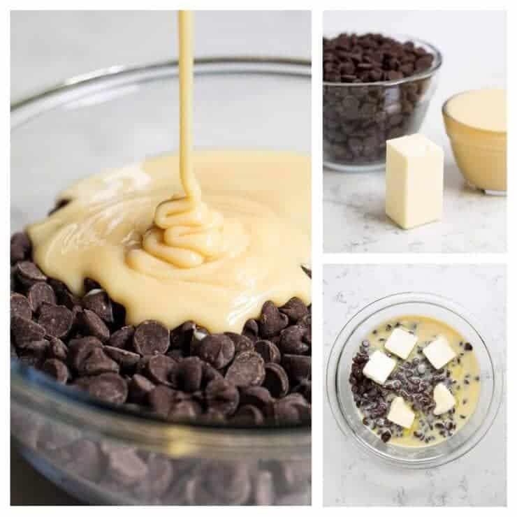 Microwave fudge is made with 3 simple ingredients